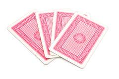 Rückseite der Spielkarten Stockfotos