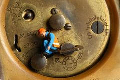 Rückseite der Uhr Lizenzfreie Stockfotos