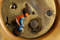 Rückseite der Uhr Stockfotos