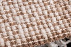 Rückseite des geknoteten Teppichs Stockfotos