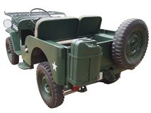 Rückseite des Jeeps Stockfotos