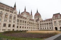 Rückseite des ungarischen Parlaments Lizenzfreie Stockfotografie