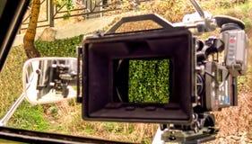 Rückseite einer Digitalkamera, mit einem leeren LCD-Bildschirm Stockbild