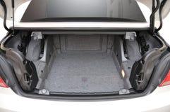 Rückseite geöffnetes Kabriolettauto BMW-335i Stockfoto