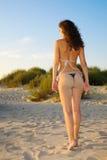 Rückseite und Esel der schönen Frau Stockfoto