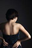 Rückseite und Schultern des Mädchens Stockbild
