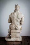 Rückseite von Moses-Statue Stockbilder