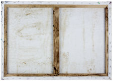 Rückseiteansicht des Segeltuches des Öls weiße Stockfotografie