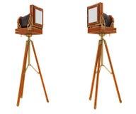 Rückseiteansichten der Kamera des großen Formats der Weinlese Stockbilder