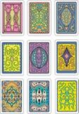 Rückseiten von Spielkarten Stockfoto