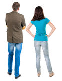 Rückseitige Ansicht der jungen Paare Lizenzfreies Stockfoto