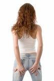 Rückseitige Ansicht einer jungen Frau Stockfoto