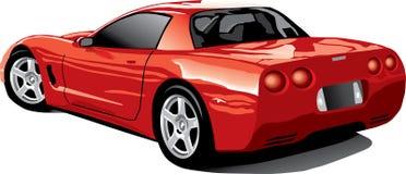 Rückseitige Ansicht von einer roten Korvette Lizenzfreies Stockbild