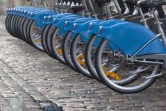 Rückseitige Gummireifen der Fahrräder Lizenzfreies Stockbild