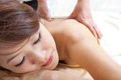 Rückseitige Massage Stockfoto