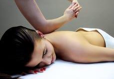 Rückseitige Massage Stockbilder