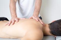 Rückseitige Massage Stockbild