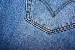 Rückseitige Tasche eines Baumwollstoffs Stockfoto