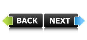 Rückseitige und folgende Tasten Lizenzfreies Stockbild