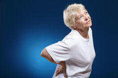 Rückseitiger Schmerz Stockfotos