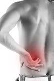 Rückseitiger Schmerz getrennt auf Weiß Lizenzfreie Stockbilder