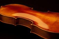 Rückseitiges Detail der Violine Stockfoto