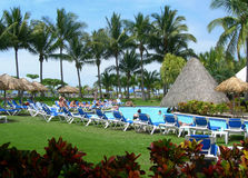 Rücksortierung in Costa Rica mit Pool Stockfotos