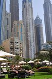 Rücksortierung im Dubai-Jachthafen Lizenzfreie Stockbilder