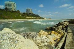 Rücksortierung-Küstenlinie Stockfotos