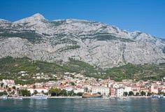 Rücksortierung Makarska. Kroatien Stockfotos