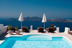 Rücksortierung in Santorini Stockfotografie