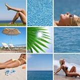 Rücksortierung und Strand und Meer Lizenzfreie Stockfotos