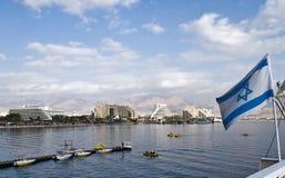 Rücksortierunghotels in Eilat Stockfotos