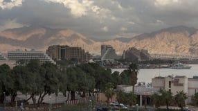Rücksortierunghotels in Eilat Stockbilder