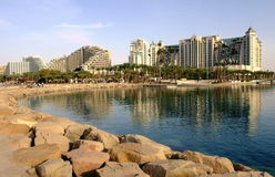 Rücksortierunghotels in Eilat Lizenzfreie Stockfotografie
