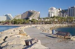 Rücksortierunghotels in Eilat, Israel Stockfoto