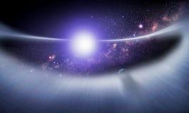 Rückstandscheibe um einen Stern #1 Stockfotografie