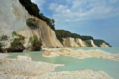 Rügen d'île de falaises de craie Photographie stock