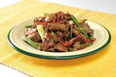 Rühren-braten Sie Rindfleischscheiben Stockbild