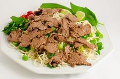 Rühren-gebratene Nudel mit Rindfleisch stockbild