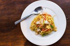 Rühren-gebratene Nudeln, Futter mein, chinesische Küche Lizenzfreie Stockbilder