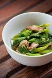 Rühren-gebratenes buntes Gemüse und Kraut der Mischung Stockfoto