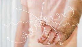 Rührende von Hand gezeichnete Geschäftsdarstellung des Mannes Lizenzfreies Stockfoto
