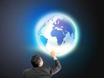 Rührende Welt des Geschäftsmannes der Neuzeit Lizenzfreie Stockfotos