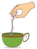 Rührender Kaffee Lizenzfreie Stockfotos