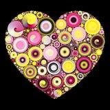Rüschen-Herz-Mosaik stockbilder