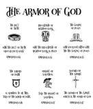 Rüstung des Gottes Stockbilder