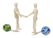 Rütteln auf Geschäft, während Sie zu den Hin- und Herbewegungen angebracht werden lizenzfreies stockbild