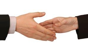 Rütteln der Hände Stockfotos