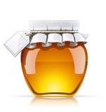 Rütteln Sie mit Honig Stockfotografie